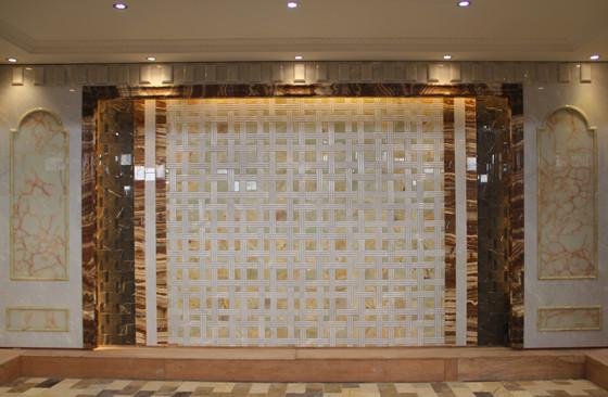 龙美达玉石背景墙展厅