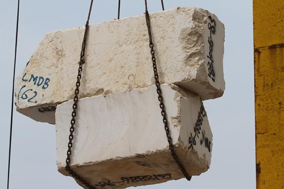 石材荒料吊装