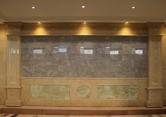 玉石背景墙展示长廊