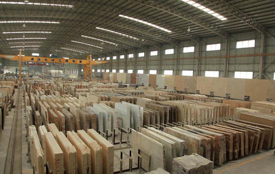 龙美达工厂车间石材大板